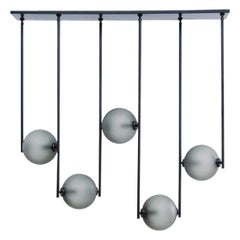 Equalizer Collection Five-Piece Linear Chandelier