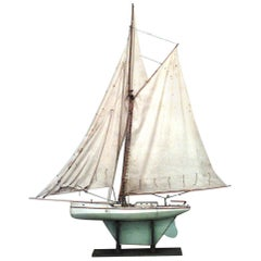 American Large Wood Model of Sail Boat