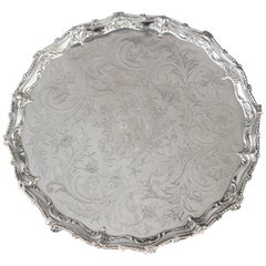 Georgian Silver Salver by Richard Rugg, London, 1768