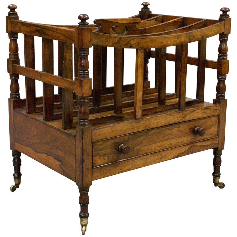 Late George III Period Four Division Music Canterbury or Magazine Rack