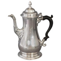George III Silver Coffee Pot London 1763 by William Grundy