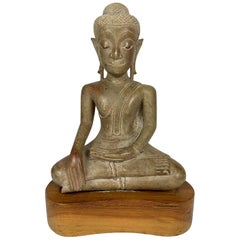 16th or 17th Century Northern Thai Carved Stone Buddha, Phayo