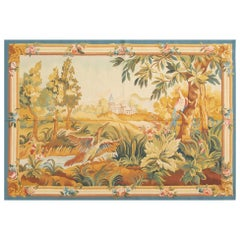 Beautiful Large Tapestry Rug Carpet France 19th Century