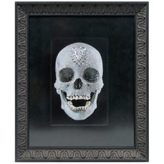 Diamond Skull, For The Love of God, by Damien Hirst, with Black Picture Frame