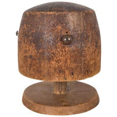 Antique Wooden Hat Mold, circa 1860-1920
