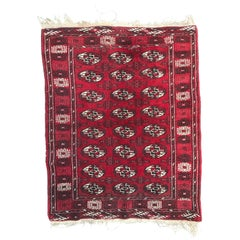 Vintage Turkmen Boukhara Rug