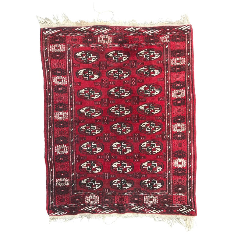 Vintage Turkmen Boukhara Rug For Sale