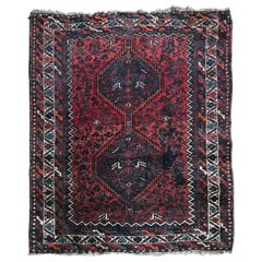 Distressed 20th Century Kurdish Rug