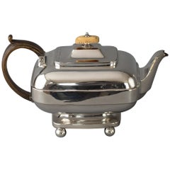 York Silver Teapot, Barber & Whitwell, York, 1815