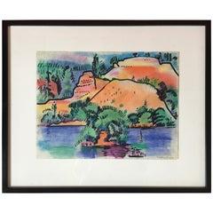 Pastel Landscape by Erle Loran #2