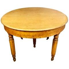 Antique Rustic Round Pine Table