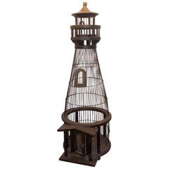 Large 1950s Lighthouse Birdcage