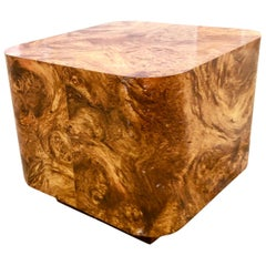 Milo Baughman Burl Wood End Table or Coffee Table