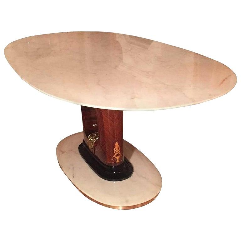 Italian Midcentury Marble Dining Table Guglielmo Ulrich Style, 1950s 1