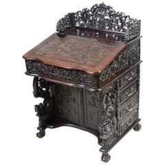 19th Century Chinese Hardwood Davenport