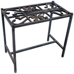 Antique French Iron Fragment Console Table