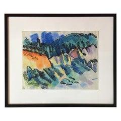 Pastel Landscape by Erle Loran #3