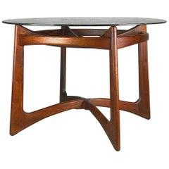 Sculptural Walnut and Glass Dining Table by Adrian Pearsall for Craft Associates