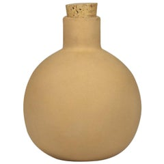 Terracotta Clay Carafe with Cork, in Stock