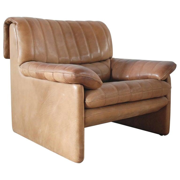 De Sede DS 86 Vintage Neck Leather Armchair 1