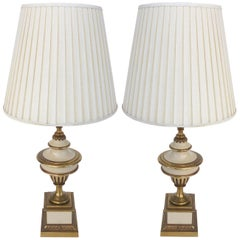 Brass Stiffel Table Lamps, Pair