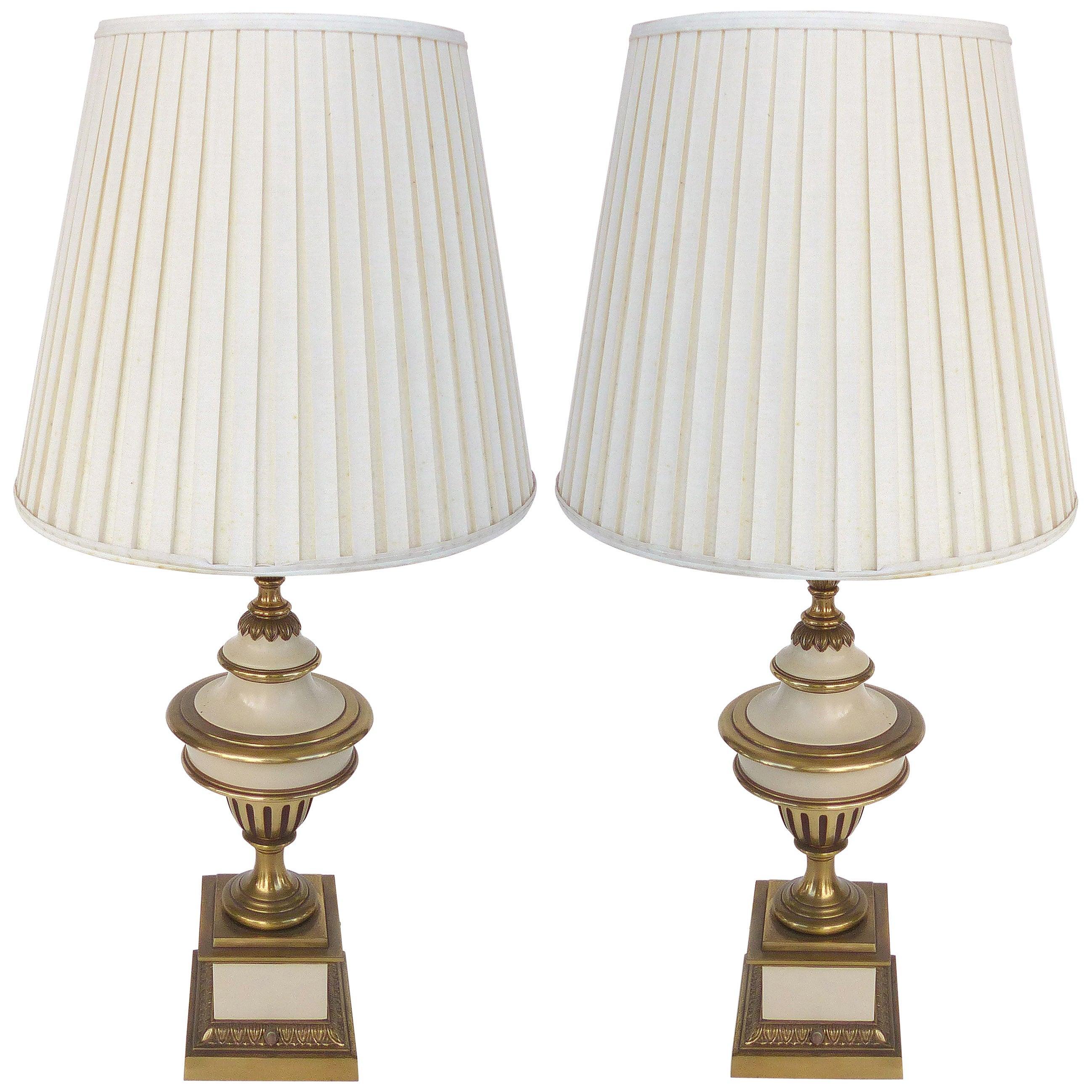 Brass Stiffel Table Lamps, Pair