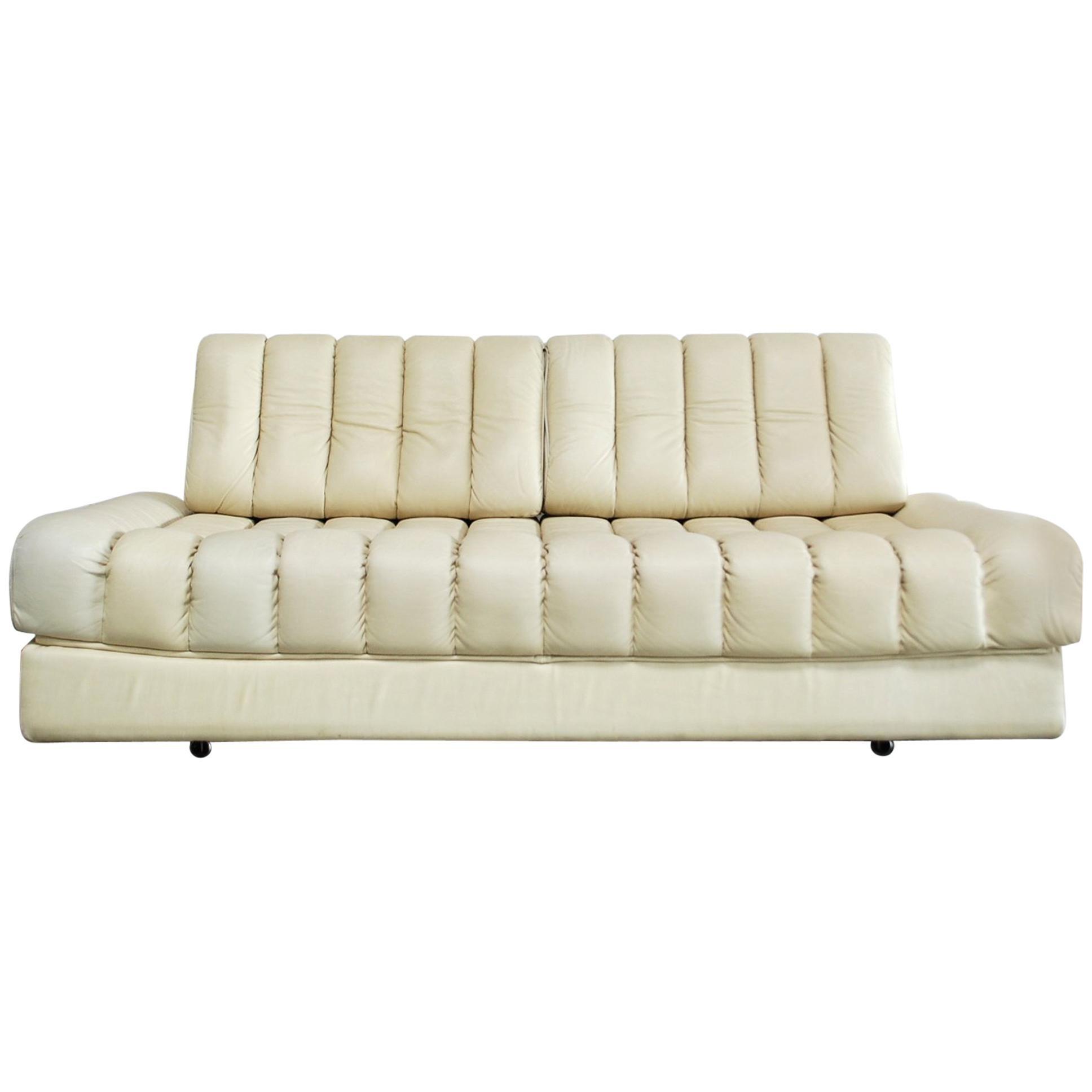 De Sede DS 85 Natural  Daybed Leather Sofa Ecru Crème White