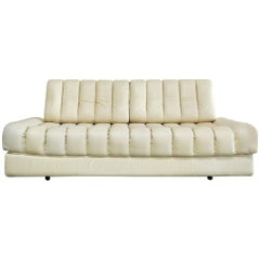 De Sede DS 85 Natural  Daybed Leather Sofa Ecru Crème White