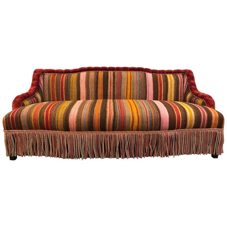 Cool Custom Made Sofa In Vintage Flat Woven Kilim Ibusinesslaw Wood Chair Design Ideas Ibusinesslaworg