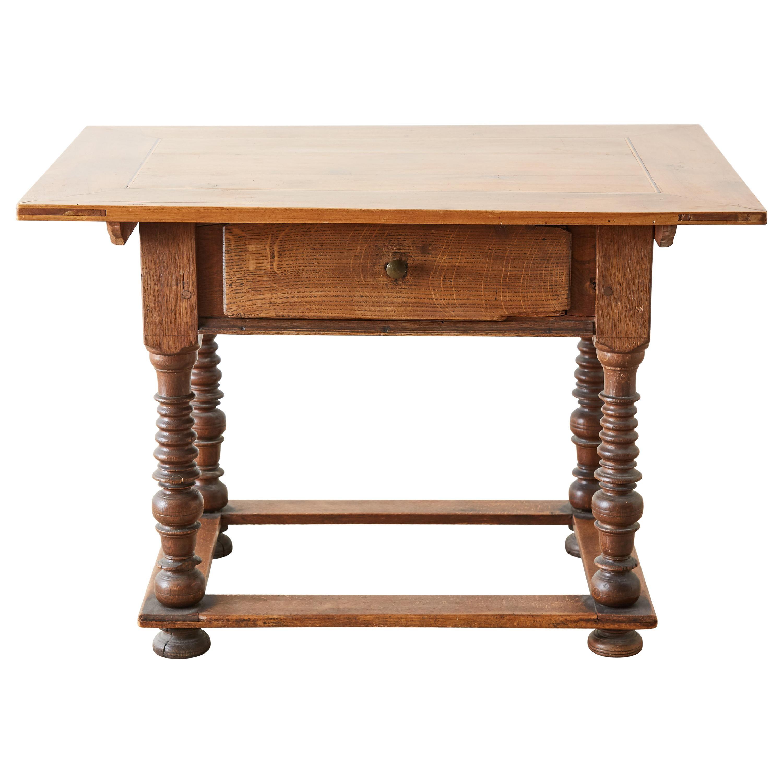18th Century Spanish Oak and Walnut Library Table