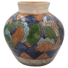 Mexikanische Antiken Dolores Porras Clay Keramik Volkskunst Terrakotta Fisch-Vase
