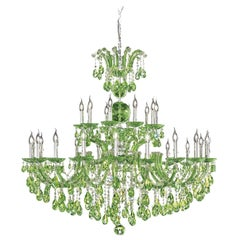Maria Theresa Green Chandelier by Aggiolight