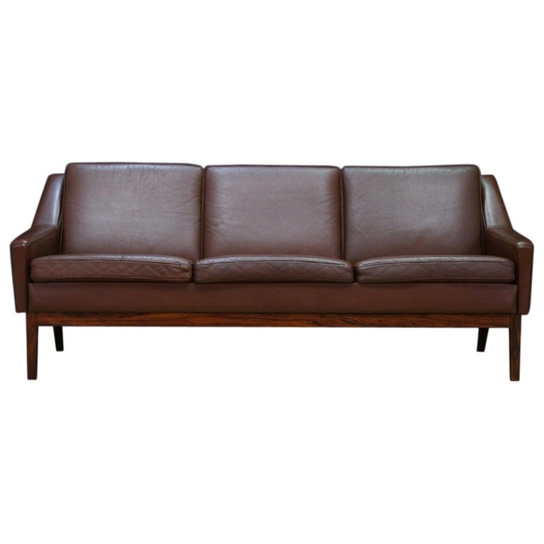 Danish Design Vintage Sofa Retro Leather For Sale at 1stdibs