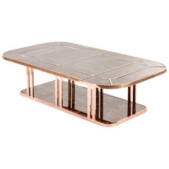 Mid-Liner Table, Modern Art Deco Center Table