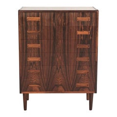 Midcentury Danish Chest of 6 Drawers in Rosewood by Westergaard