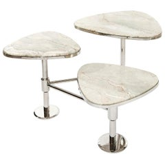 Flank Table, Modern Art Deco Center Table, Coffee Table