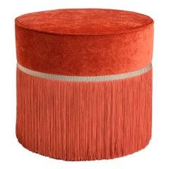 Couture Orange Pouf by Lorenza Bozzoli Design