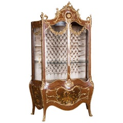 Majestic French Display Case in the Style of the 18th Century, Louis Quinze