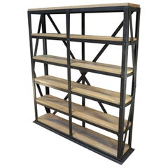 Industrial Riveted Iron 6-Tier Shelf, circa 1900