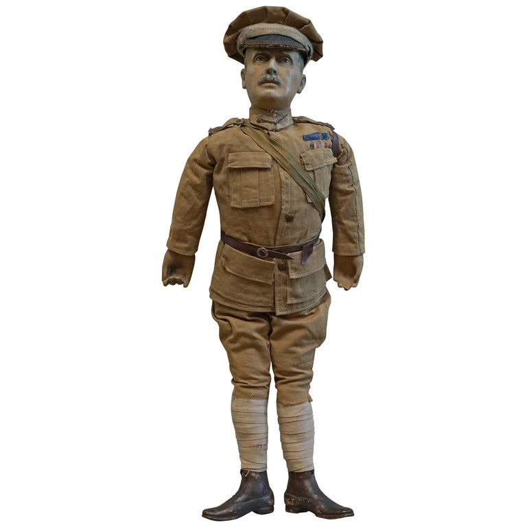 Very Rare 1898-1914 British Patriotic Propaganda Doll of Lord Horatio Kitchener For Sale