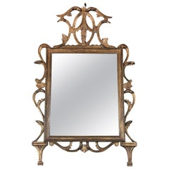 18th Century Finely Hand-Carved and Gilded Mirror