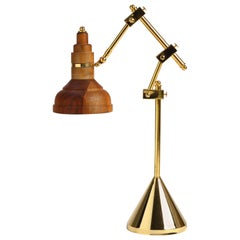 Clarify, Vintage Metal and Wood Table Lamp