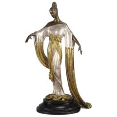 "Limited Edition Bronze Figure ""Negligée"" by Erté"
