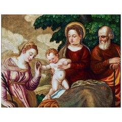 Dipinto Religioso - Polidoro de Renzi 16th Century Oil on Panel Sacre Painting