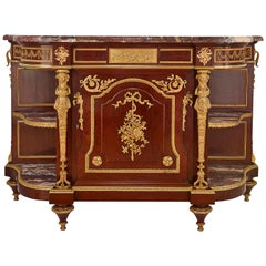 19th Century Mahogany and Gilt Bronze Cabinet by Francois Linke