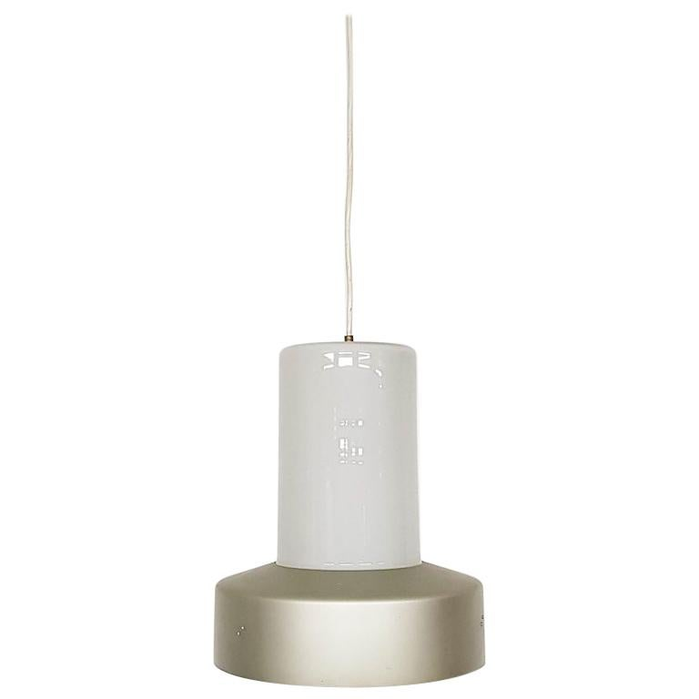 Lisa Johansson-Pape 61-013 Glass and Metal Pendant Light for Orno, Finland, 1961 For Sale
