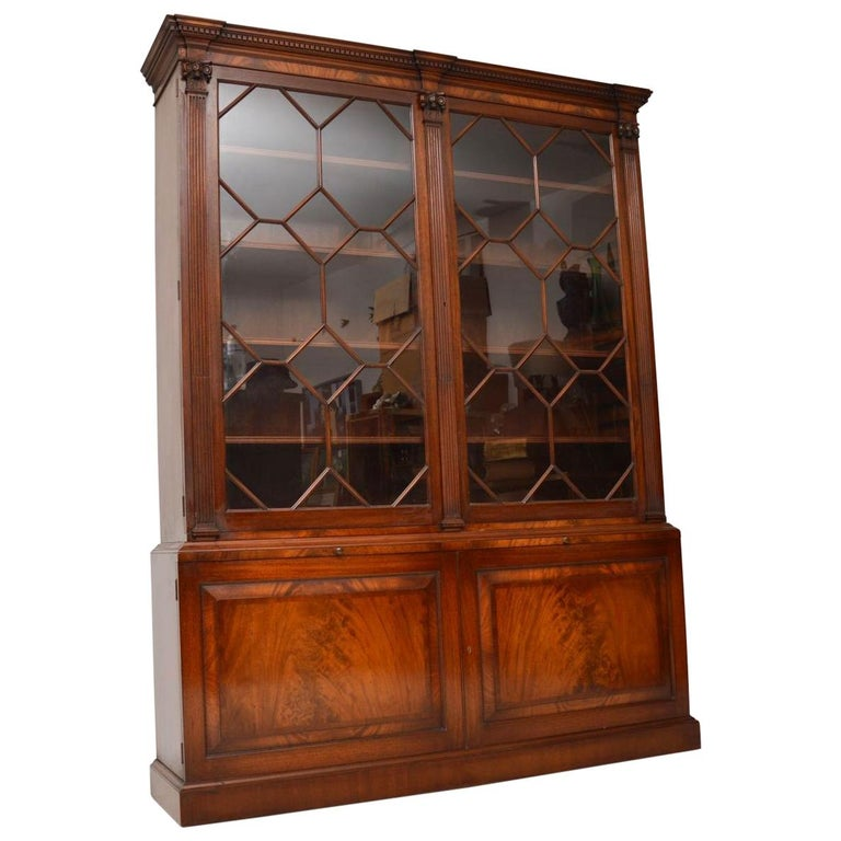 Antique Mahogany Astral Glazed Bookcase For Sale At 1stdibs