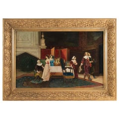 Painting, Interior Scene from the 19th Century, Napoleon III Period