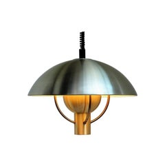Large Brass Pendant by Fog & Mørup, Danish Vintage Design from the 1960s