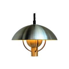 Große Messing Pendelleuchte von Nebel & Mørup, dänisches Vintage-Design aus den 1960er Jahren